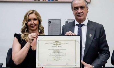 Presidente de Atltico recibe homenaje del Ayuntamiento de Belo Horizonte
