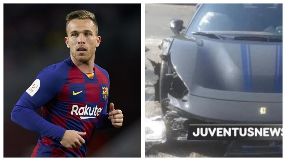 Serie A: Arthur Melo involved in traffic accident in his Ferrari