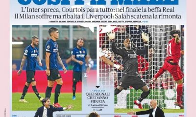 Today's Papers – That hurts, bitter Milan and Inter