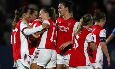El Arsenal ha vuelto a encarrilar su campaña en la UEFA Women's Champions League el jueves