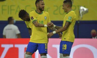 Con espectáculo de Neymar y Raphinha, Brasil atropella a Uruguay en Manaus para los Clasificatorios Sudamericanos