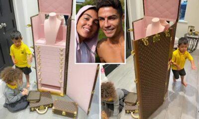 Cristiano Ronaldo de Man Utd deja sin palabras a Georgina Rodríguez después de comprar un baúl de joyería Louis Vuitton de £ 105k