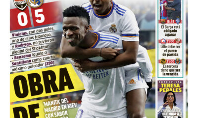 Documentos de hoy: el Madrid venció al Shakhtar por 5-0 y el Atlético perdió 3-2 ante el Liverpool