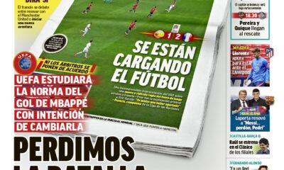 Documentos españoles de hoy: la UEFA estudia el gol de Mbappé, el Real Madrid mira a Lewandowski y Pogba y el Barcelona persigue a Sterling