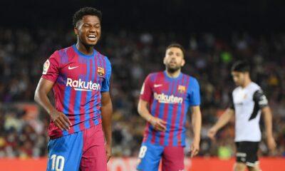 El Barcelona logra la crucial victoria del Valencia en el regreso de Ansu Fati