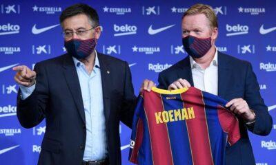 Josep Maria Bartomeu y Ronald Koeman