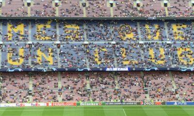 La escasa multitud del Camp Nou sorprende cuando el Barcelona recibe al Dynamo Kyiv en un choque crucial