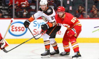 Mason McTavish de Ducks sufre una lesión en la parte inferior del cuerpo contra Flames