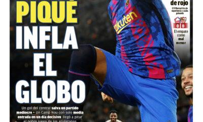 Papeles de hoy: Piqué lleva al Barcelona a la victoria mientras Fati renueva hasta 2027