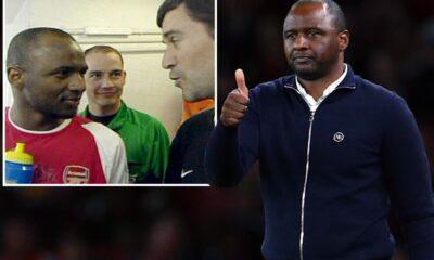 Patrick Vieira bromea con Gary Neville: `` Siempre estoy tranquilo, incluso en el túnel '' a pesar de la infame pelea de Roy Keane después del empate del Arsenal