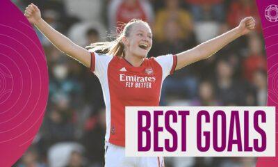 Superliga femenina: el aturdidor de 25 yardas de Frida Maanum para el Arsenal figura en los mejores goles