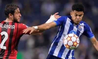 Video: Luis Díaz abrió el marcador a favor del Porto contra Milan por Champions League | Fútbol